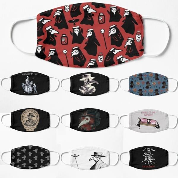Goth, mouthmask, printedfacemask, plaguemask