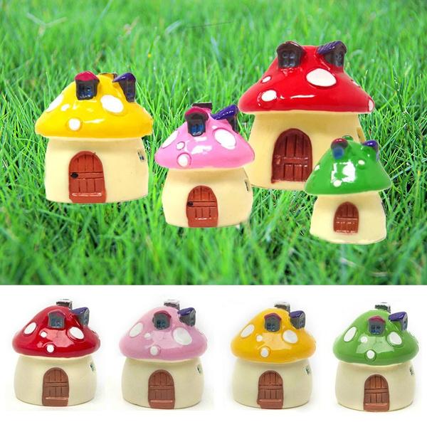 Lawn, mushroomhouse, Garden, Mushroom
