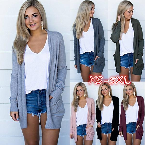 Plus Size, cardigan, women coat, thincoat