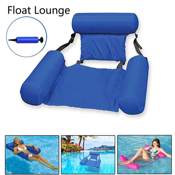 5color Summer Portable Bearing 200kg, Pool Chaise Lounge Chairs In Water