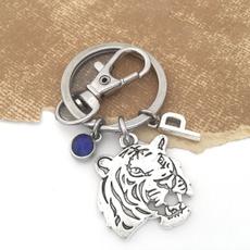 Tiger, Head, Key Chain, Jewelry