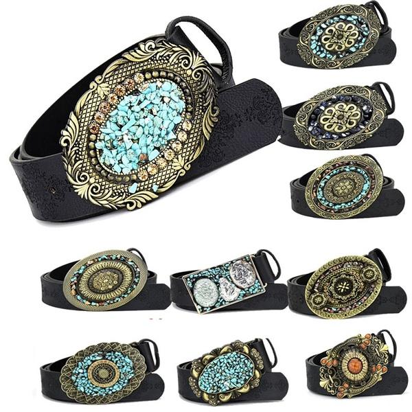 Women's Fashion, retro belts, Leather belt, Waist