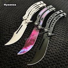 butterfly, pocketknife, outdoorknife, butterflyknife