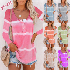 Plus Size, Long Sleeve, T Shirts, Fashion