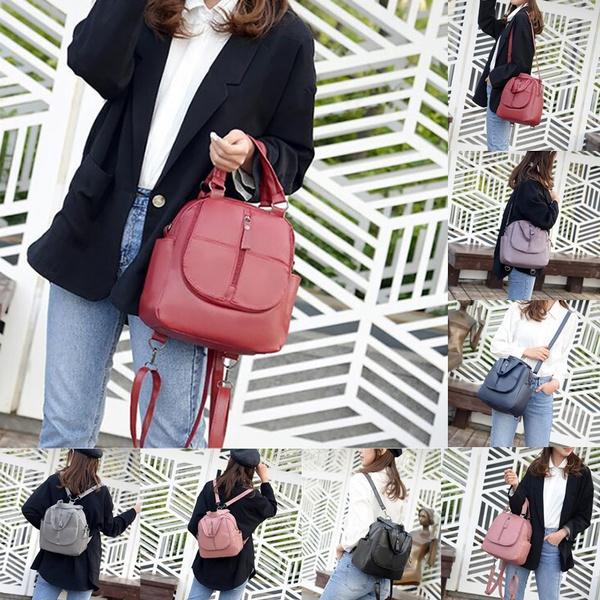 Shoulder Bags, rucksackdamen, leather, Backpacks