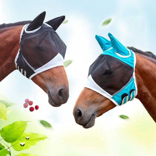 trailriding, horse, horseearcover, horsemeshmask