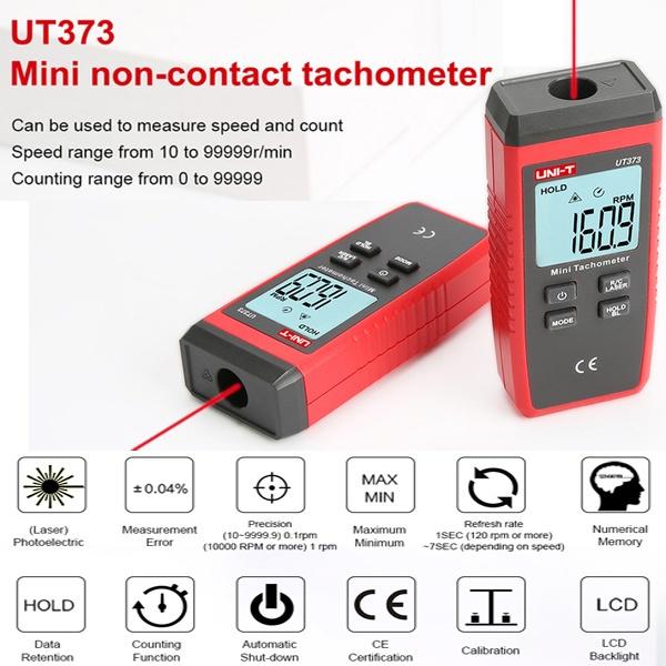 Tachymètre numérique sans contact UT373