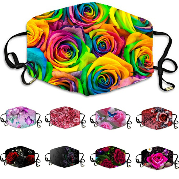 washablemask, Floral print, Colorful, printedfacemask