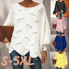 Fashion, Hollow-out, batsweater, Women's Fashion