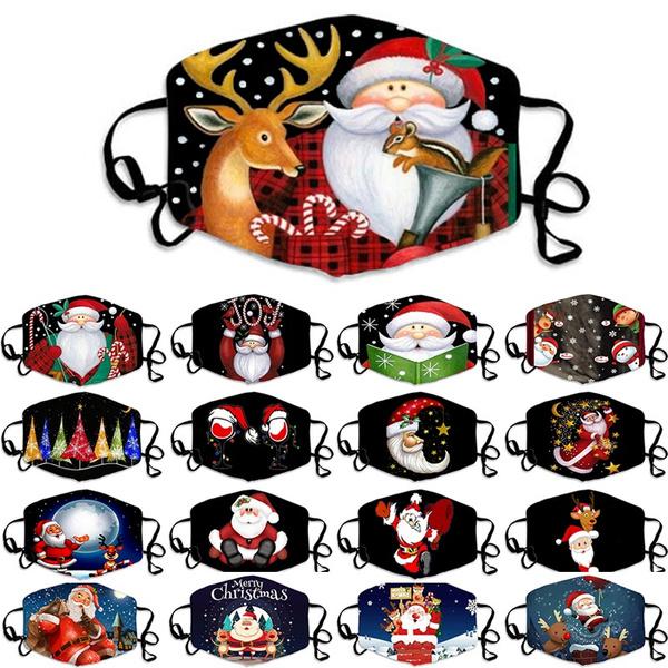 elkprintmask, mouthmask, Christmas, unisex