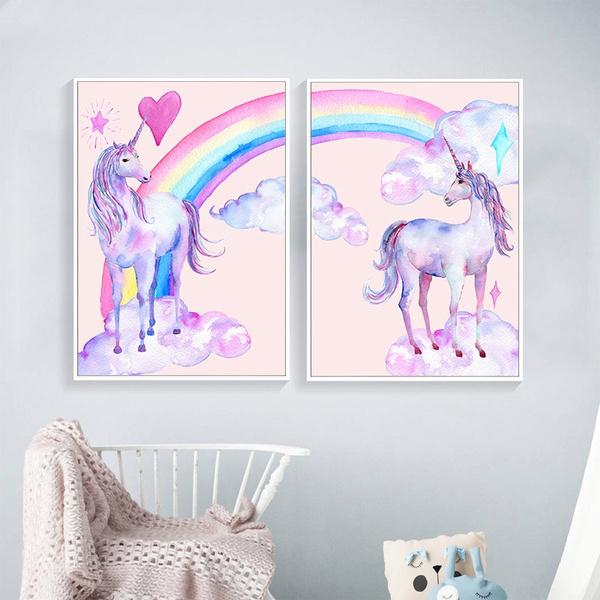 rainbow, Wall Art, Home Decor, canvaspainting