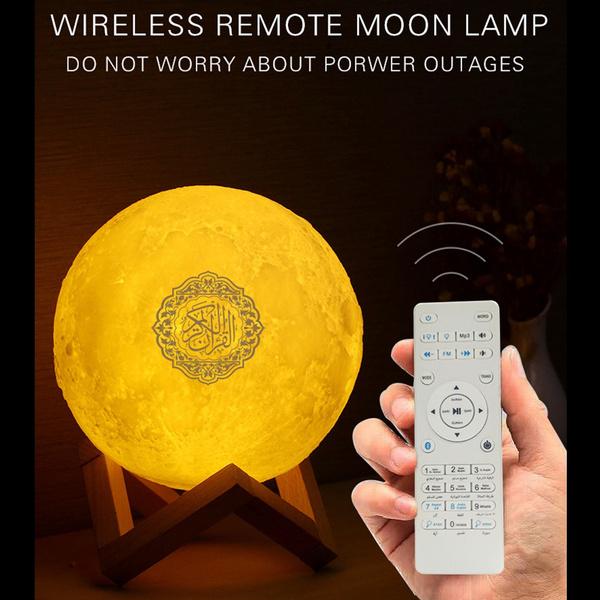 Led Nigt Moon Lamp Quran Speaker Hip, Quran Led Lamp Bluetooth Speaker