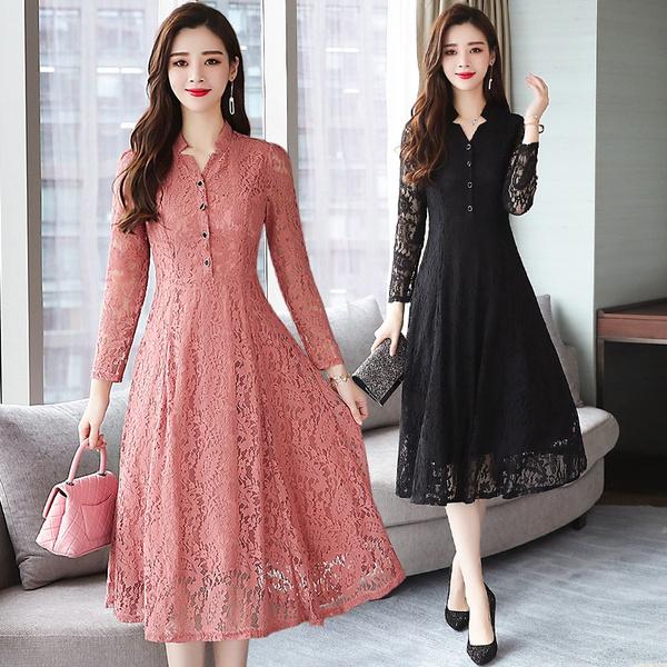black lace dress, Lace, long dress, plus size dress