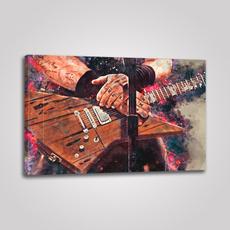 Guitars, canvasprint, Wall Art, Home
