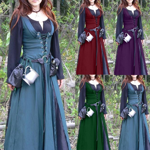 Plus Size, Cosplay, Medieval, long dress