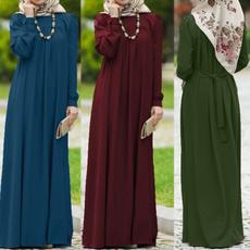 slim dress, Plus Size, muslimdres, long dress