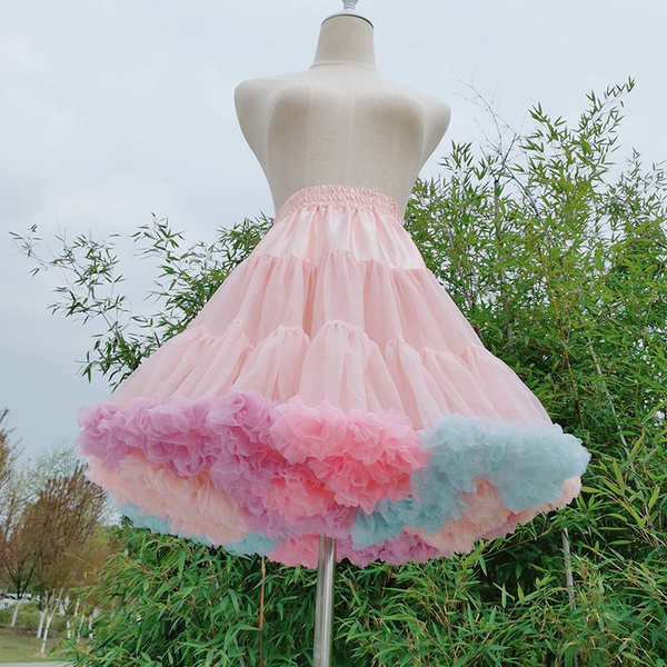pink, rainbow, Lolita fashion, tutuskirt