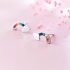rainbow, Fashion, Jewelry, Stud Earring