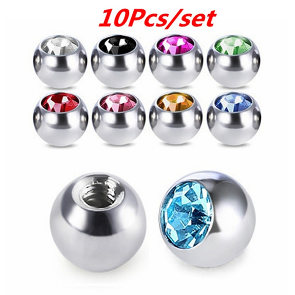 navelringspart, Head, navelstudreplacementpart, piercingjewelryreplacementpart