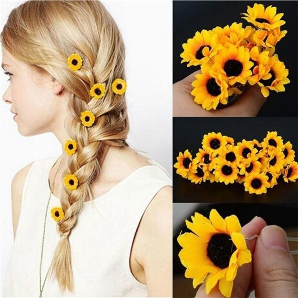sunflowerhairpin, cutehairpin, Fashion, Sunflowers