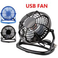 Belle 4-Inch Mini Portable USB Plastic Fan Handheld Desk 4 Blades Cooling Fan