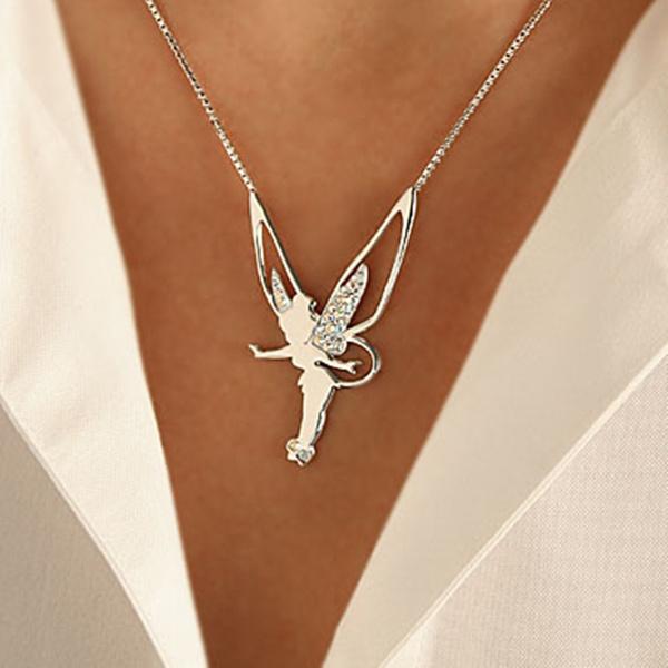 925 sterling silver necklace, angelnecklacesforwomen, angelnecklace, DIAMOND