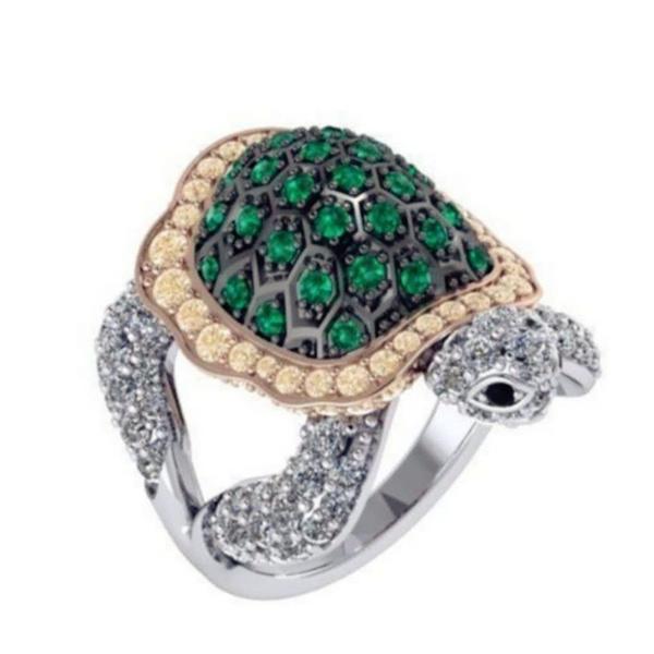 Turtle, Sterling, DIAMOND, 925 sterling silver
