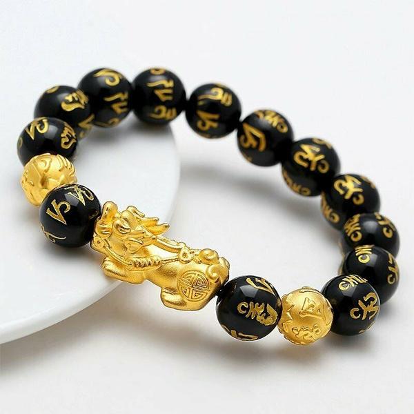 pixiu, golden, wealth, wirstband