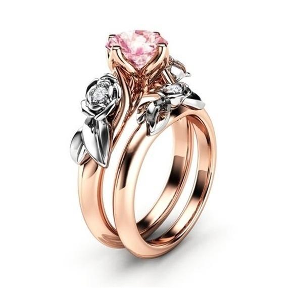 18 k, 925 sterling silver, wedding ring, gold