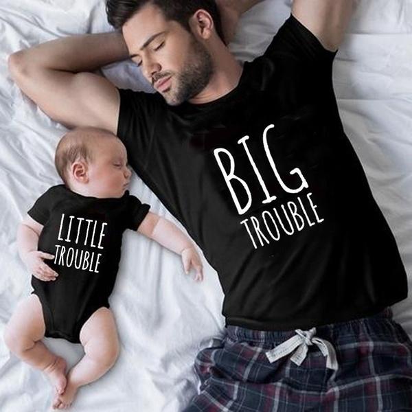bigtroubleinlittletshirt, Fashion, Family, daddybabymatchingfamilycottontshirtsbodysuit