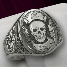 Sterling, ringsformen, Silver Jewelry, Skeleton
