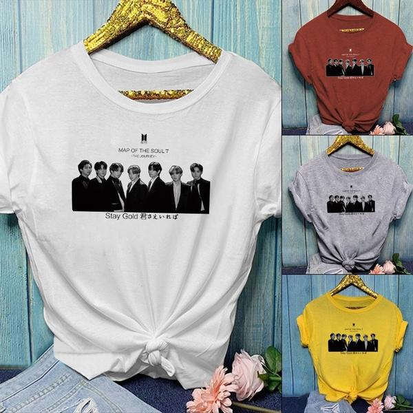 K-Pop, Fashion, Shorts, Cotton T Shirt