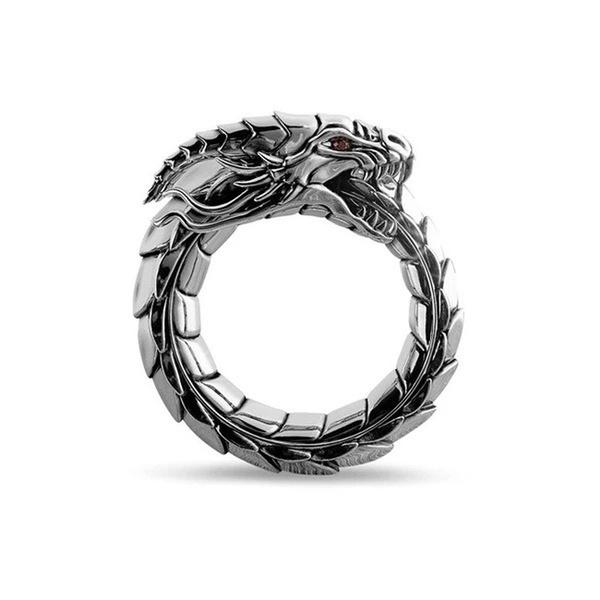 protectivering, dragonheadring, dragonring, Silver Ring