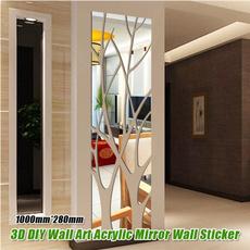 Wall Decor, art, Home Decor, mirrorwall
