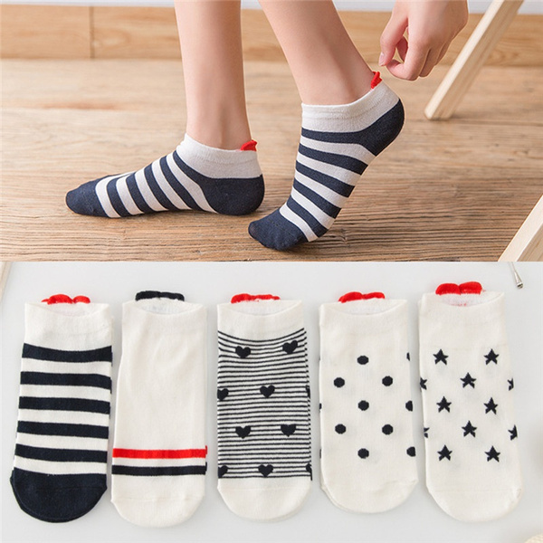 cute, Cotton Socks, casualshortsock, sportsshortsock