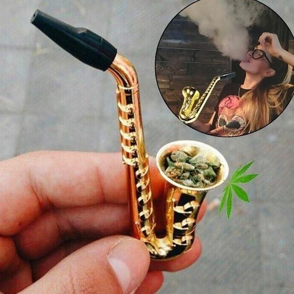saxophonepipeforsmokingweed, metalsmokingpipe, smokingpipesformarijuana, Unique