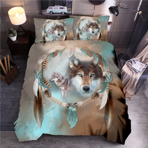 wolfbeddingset, Home, wolfbeddingqueen, Home & Living