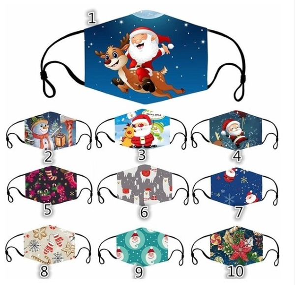 cute, festivalmask, Christmas, windprooffacemask