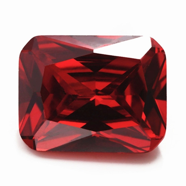 naturalzircon, Jewelry, rectanglecutrhinestone, ruby