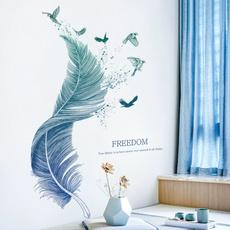 bigsizewallsticker, decoration, wallpapersticker, featherwallpaper