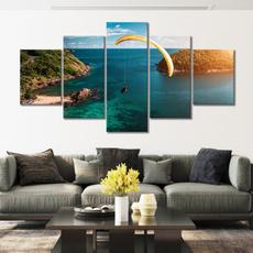 tropicalparaglideseascape, art, wallartposter, seascapelandscape