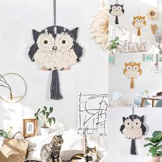 bedroomdecopr, Owl, macrame, animaltapestry