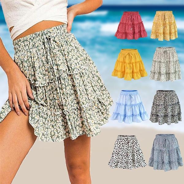 Summer, Shorts, high waist, Skirts