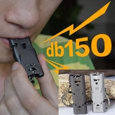 outdooraccessory, Outdoor, aluminiumemergencywhistle, doubletube