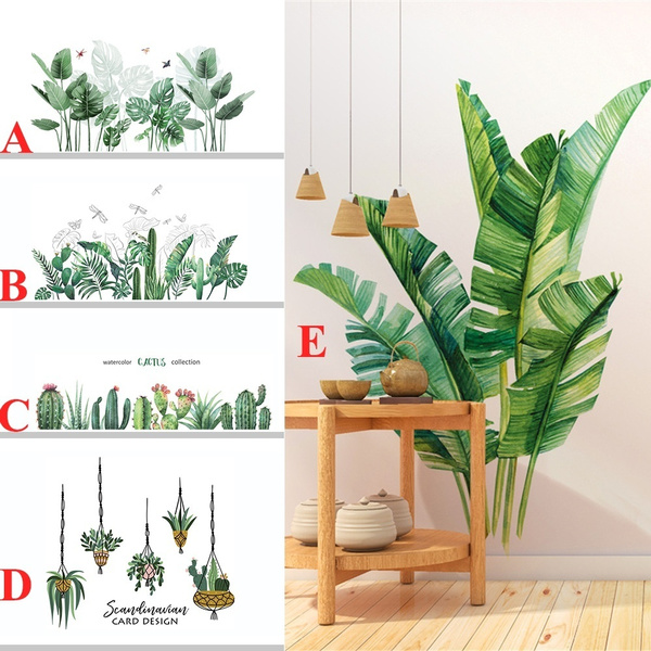 PVC wall stickers, leaves, Home & Living, Wall Decals & Stickers