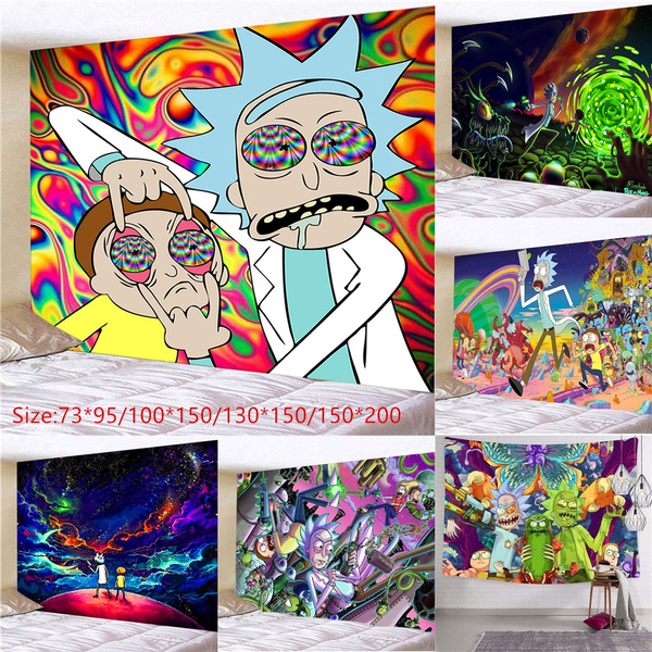 Wall Art, Home Decor, hangingtapestry, rickandmorty