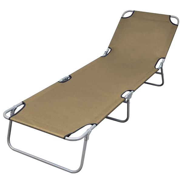 brown, Chair, sunlounger, Fabric