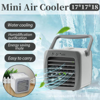 Office Home 3 in 1 Mini Evaporative Cooler Personal Air Cooler with 7 Colors Light Dorm Cooler Humidifier /& Purifier CharmUO Portable Air Cooler Desktop Cooling Fan for Room 3 Fan Speed