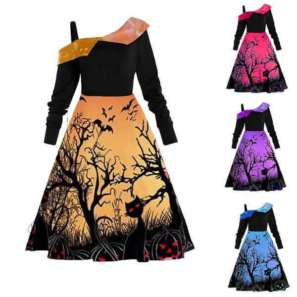Plus Size, Funny, Long Sleeve, halloweendres
