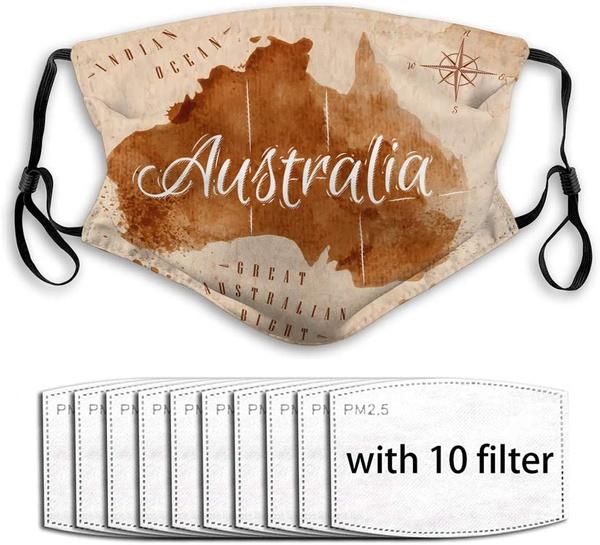 10, Australia, Map, scraf